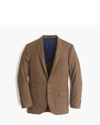 """Коричневый шерстяной пиджак с узором """"гусиные лапки"""""""