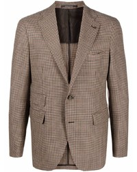 """Мужской коричневый шерстяной пиджак с узором """"гусиные лапки"""" от Tagliatore"""