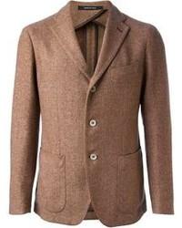 Коричневый шерстяной пиджак