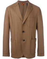 Мужской коричневый шерстяной пиджак от Barena