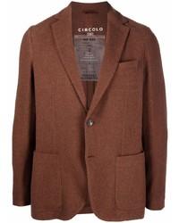 Мужской коричневый шерстяной пиджак от Circolo 1901