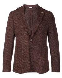 Мужской коричневый шерстяной пиджак от Manuel Ritz