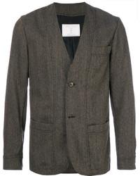 Мужской коричневый шерстяной пиджак от Societe Anonyme