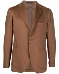 Мужской коричневый шерстяной пиджак от Tagliatore