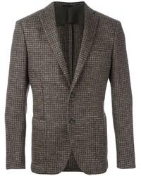 Мужской коричневый шерстяной пиджак от Tonello