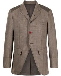 Мужской коричневый шерстяной пиджак от Undercover