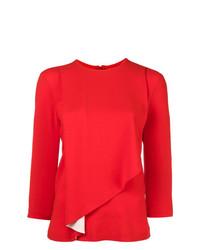 Красная блузка с длинным рукавом от Maison Margiela