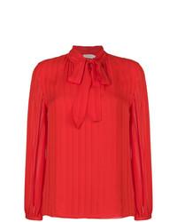 Красная блузка с длинным рукавом от Tory Burch