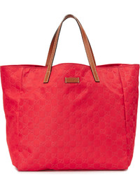 Красная большая сумка из плотной ткани