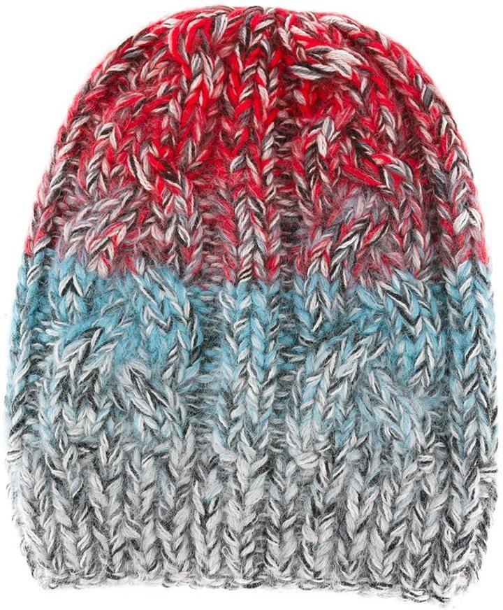 мужская красная вязаная шапка из мохера от Missoni 31 481 руб