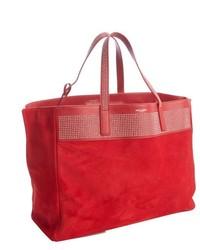Красная замшевая большая сумка