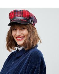 Женская красная кепка в шотландскую клетку от Aldo