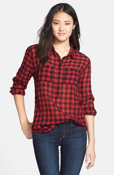 804002d2380 Красная Рубашка В Клетку Женская Фото