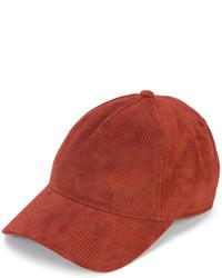 Женская красная кожаная бейсболка от Rag & Bone