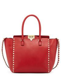 Красная кожаная большая сумка