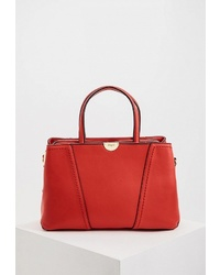 Красная кожаная большая сумка от Blugirl