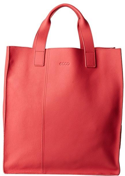 Красная сумка шоппер с чем носить