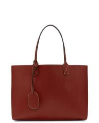 Красная кожаная большая сумка от Gucci