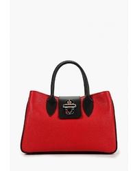 Красная кожаная большая сумка от Sefaro Exotic