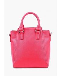 Красная кожаная большая сумка от