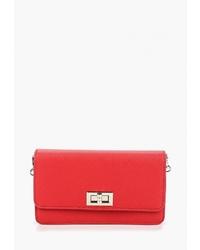 Красная кожаная поясная сумка от David Jones