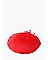 Красная кожаная поясная сумка от Esse