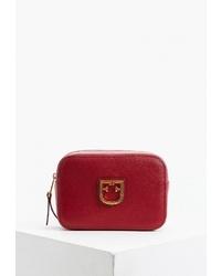 Красная кожаная поясная сумка от Furla