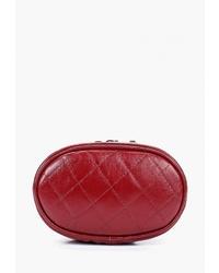 Красная кожаная поясная сумка от Igermann