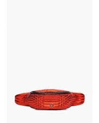 Красная кожаная поясная сумка от Labbra