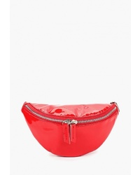 Красная кожаная поясная сумка от Lorani