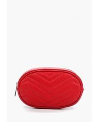 Красная кожаная поясная сумка от Markese