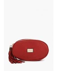 Красная кожаная поясная сумка от Nano de la Rosa