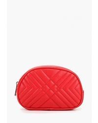 Красная кожаная поясная сумка от O'stin