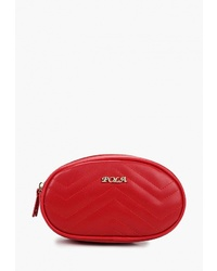 Красная кожаная поясная сумка от Pola