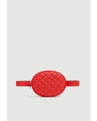 Красная кожаная поясная сумка от Pull&Bear