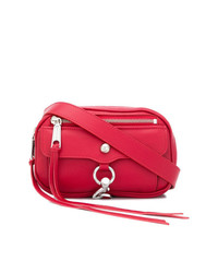 Красная кожаная поясная сумка от Rebecca Minkoff