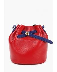 Красная кожаная сумка-мешок от Cheribags
