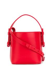 2b29db767ed6 Купить красную кожаную сумку-мешок - модные модели сумок-мешков ...