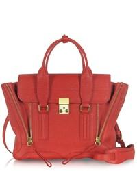 Женская красная кожаная сумка-саквояж от 3.1 Phillip Lim