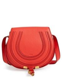 Красная кожаная сумка через плечо