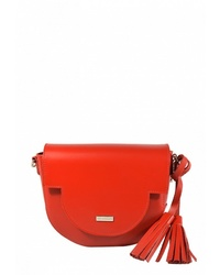 Красная кожаная сумка через плечо от BB1