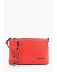 Красная кожаная сумка через плечо от Dino Ricci