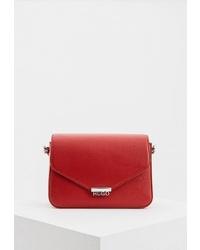 Красная кожаная сумка через плечо от Hugo Hugo Boss