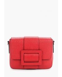 Красная кожаная сумка через плечо от Madeleine