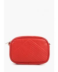 Красная кожаная сумка через плечо от Modis