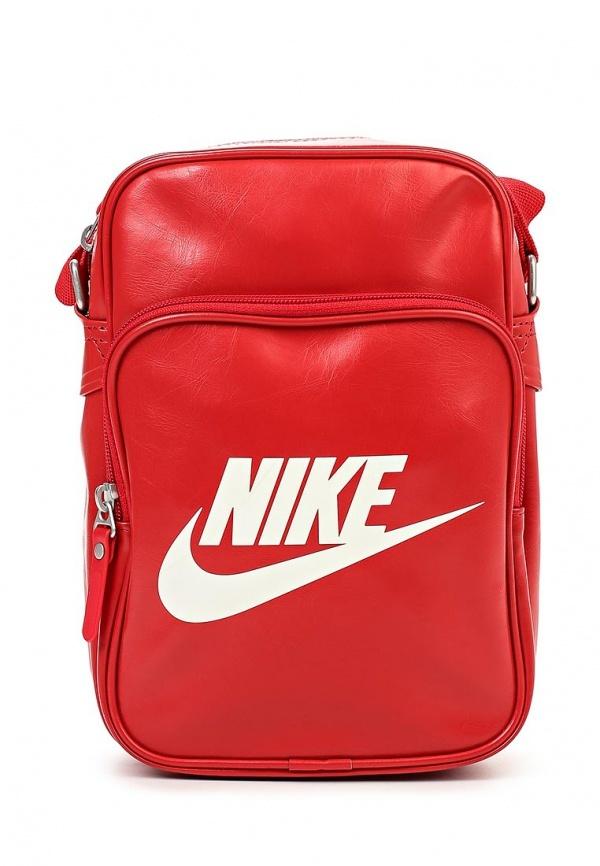 565bc177f Красная кожаная сумка через плечо от Nike, 1 490 руб.   Lamoda ...