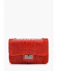 Красная кожаная сумка через плечо от Roberta Rossi