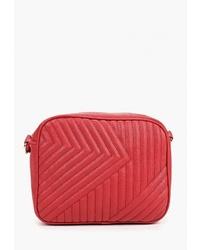 Красная кожаная сумка через плечо от Sela
