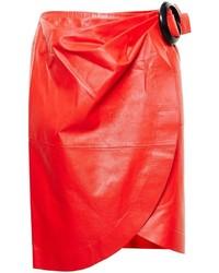 Красная кожаная юбка-карандаш от J.W.Anderson