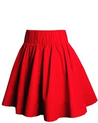Красная короткая юбка-солнце